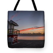 7935- Miami Beach Sunrise 14x25 Tote Bag