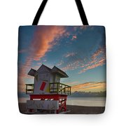 7944- Miami Beach Sunrise Tote Bag