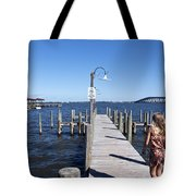 Indian River Lagoon At Eau Gallie In Florida Usa Tote Bag