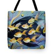 8 Gold Fish Tote Bag
