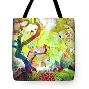 8 Abstract Japanese Maple Tree Tote Bag