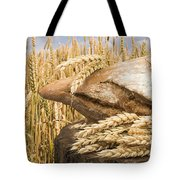Bread And Wheat Cereal Crops. Tote Bag