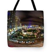 Charlotte City Skyline At Night  Tote Bag