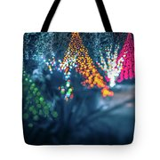 Christmas Season Decorationsafter Sunset At The Gardens Tote Bag