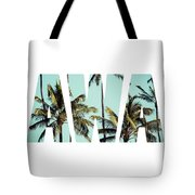 Coconut Palm In Hawaii, Usa. Tote Bag