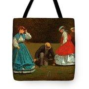 Croquet Scene Tote Bag