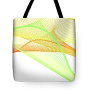 Dynamic And Bright Linear Spiral With Colorful Gradient Tote Bag
