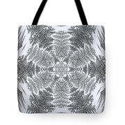 Fern Frost Mandala Tote Bag
