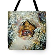 Hidden Face With Lipstick Tote Bag