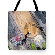 Mining Excavator On The Bottom Surface Mine.  Tote Bag