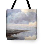 Misty Landscape Tote Bag