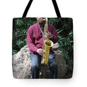 Muslim Jazz Musician. Tote Bag