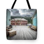 Port Of Skagway Alaska Near White Pass British Columbia Canada Tote Bag