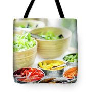 Salad Bar Buffet Fresh Mixed Vegetables Display Tote Bag