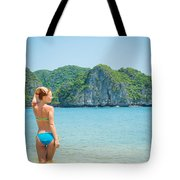 Sexy Woman Relax Tote Bag