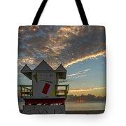 8003- Miami Beach Sunrise Tote Bag