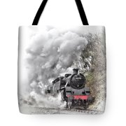80072 Steaming In The Rain Tote Bag