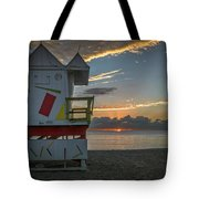 8041- Miami Beach Sunrise Tote Bag