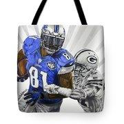 #81 Calvin Johnson Tote Bag