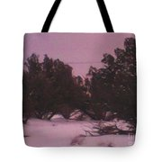 Snowy Desert Landscape Tote Bag