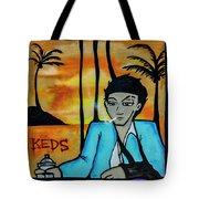 8303-2-  Little Havana Mural Tote Bag