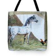 #84 - The Gray And The Rooster Tote Bag