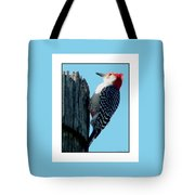 #8671 Woodpecker Tote Bag