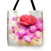 #8742 Soft Flowers Tote Bag