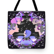 889  Happily Listening To The Music V Tote Bag