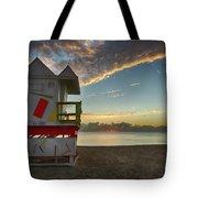 8990- Miami Beach Sunrise Tote Bag