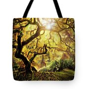 9 Abstract Japanese Maple Tree Tote Bag