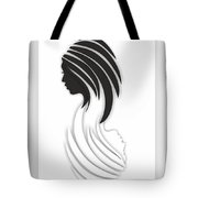 Abstract Monochrome Tote Bag
