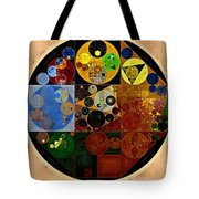 Abstract Painting - Caterpillars Brown Tote Bag
