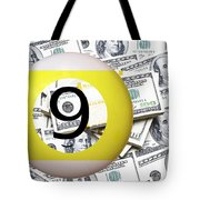 9 Ball - It's All About The Money Tote Bag