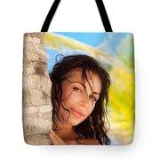 Beautiful Woman On The Beach Tote Bag
