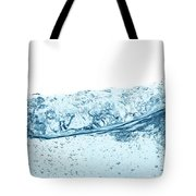 Blue Water Wave Abstract Background Tote Bag
