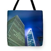 Charlotte North Carolina Skyline Tote Bag