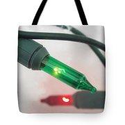 Christmas Fairy Lights On Snow Tote Bag
