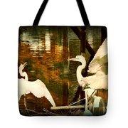 9 Egrets Tote Bag