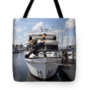 Lake Monroe At The Port Of Sanford Florida Tote Bag