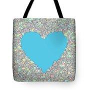 Love Heart Valentine Shape Tote Bag
