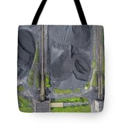 Mining Excavator On The Bottom Surface Mine.  Tote Bag