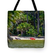 Palmetto Forest On Hunting Island Beach Tote Bag