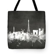 Paris France Skyline Tote Bag