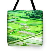 Rice Fields Scenery Tote Bag