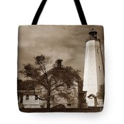 Sandy Hook Lighthouse Nj  Tote Bag