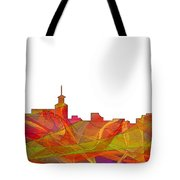 Santa Fe New Mexico Skyline Tote Bag