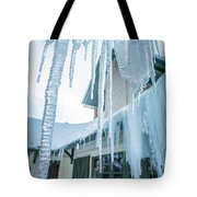 Snowshoe Mountain Village And Restaurants And Shops On A Sunny D Tote Bag