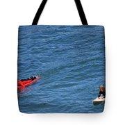 Surfer On Board. Tote Bag