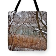 The Bass River In Winter Tote Bag